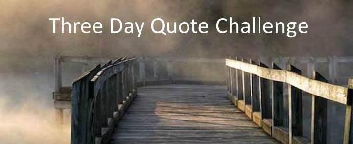 Three Day Quote Challenge Symbol