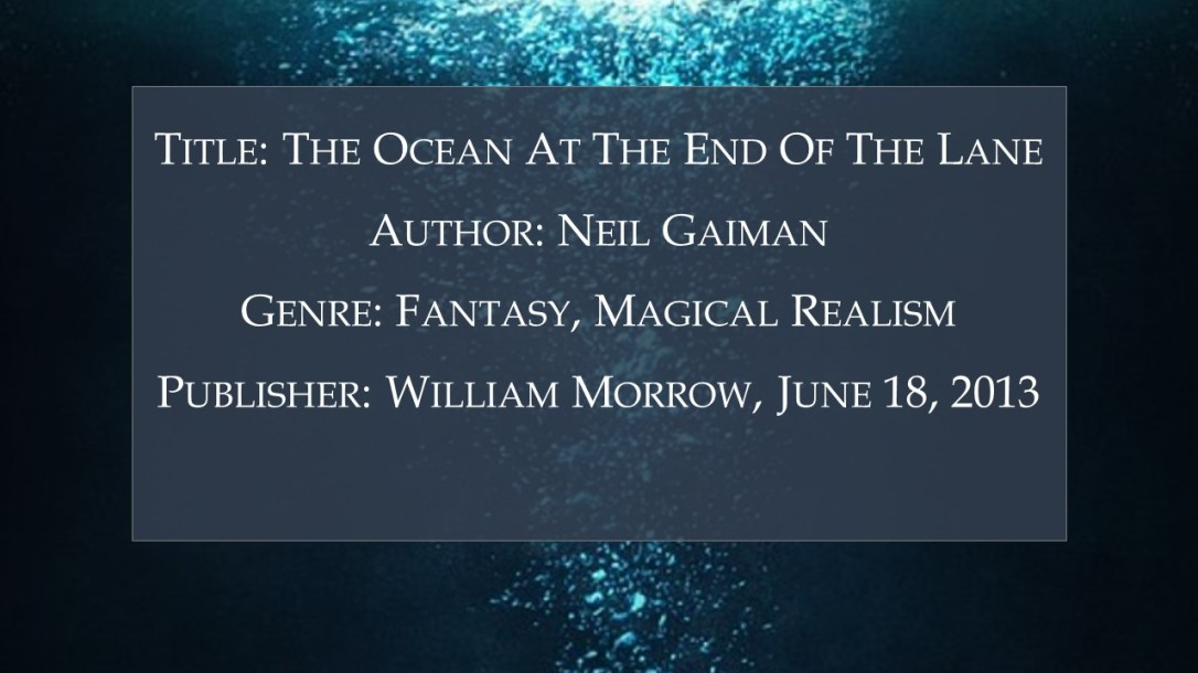 The Ocean at the end of the lane - Book Details